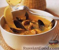 Фото к рецепту: Тыквенный суп-пюре с мидиями