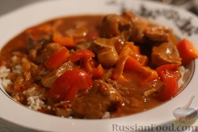 Гуляш из говядины и свинины рецепт пошагово