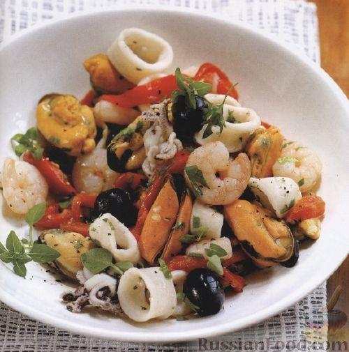 салат с морепродуктами рецепт с фото морской коктейль