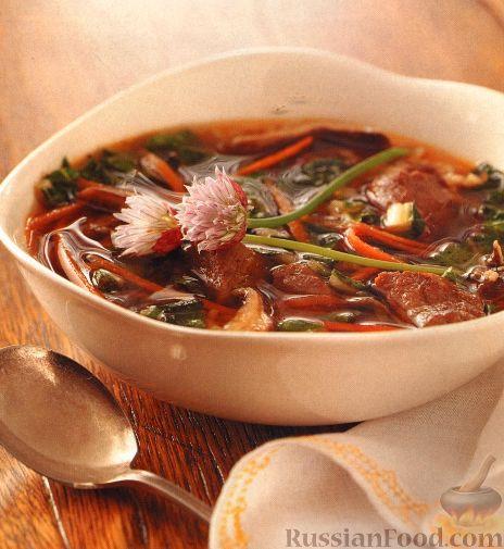 Рецепт Восточный овощной суп с говядиной