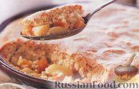 Фото к рецепту: Пудинг с апельсиновым соусом