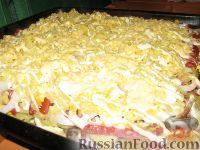 Фото к рецепту: Картофельная запеканка с колбасой