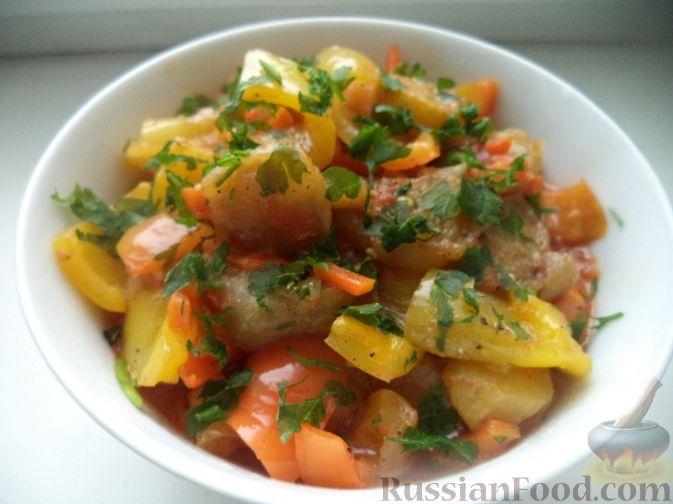 Овощное соте с баклажанами рецепт пошагово
