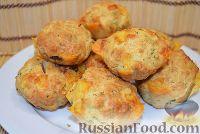Фото к рецепту: Маффины с сыром и беконом