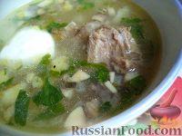 Фото к рецепту: Необычный грибной суп