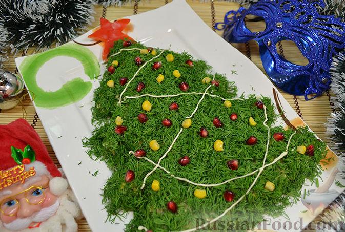 салат елочка рецепт