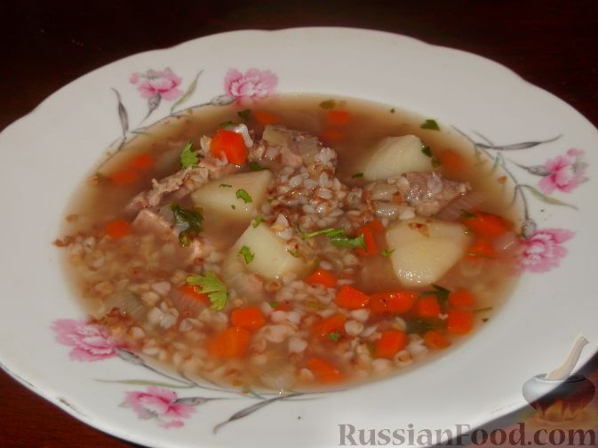 Рецепт гречневого супа с мясом