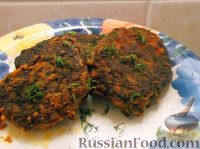 Фото к рецепту: Котлеты из печени и риса
