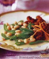 Фото к рецепту: Фасоль с мясными котлетами