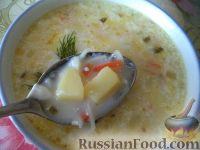 Фото к рецепту: Сырный суп с курицей