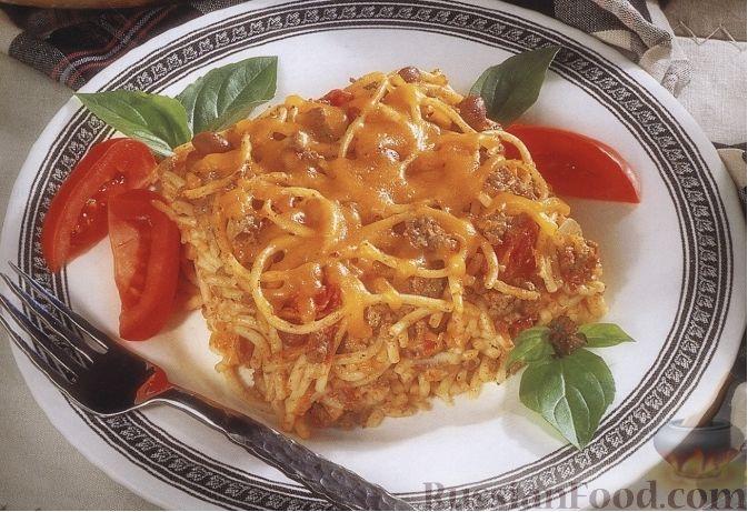 Рецепт Макаронная запеканка с фасолью в томатном соусе