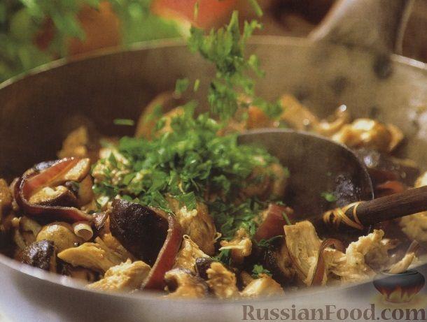 Рецепт Жареное куриное филе с грибами