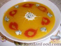 Фото к рецепту: Суп тыквенно-томатный с голубым сыром