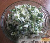 Фото к рецепту: Зелёный салат с черемшой