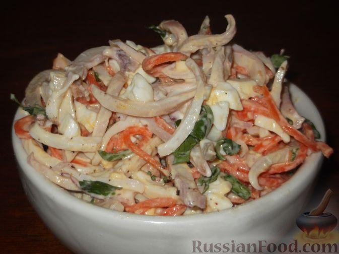 салат из кальмаров рецепты с яйцом
