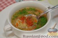 Фото к рецепту: Томатный суп с лапшой