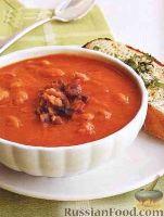 Фото к рецепту: Томатный суп-пюре с фасолью