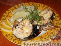 Фото к рецепту: Горбуша, запеченная под майонезом