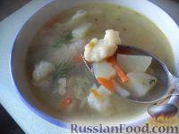 Фото к рецепту: Суп куриный с клецками (по-деревенски)