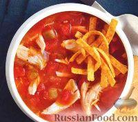 Фото к рецепту: Томатный суп с куриным мясом