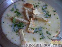 Фото к рецепту: Быстрый сырный суп