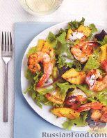 Как делает салат креветками