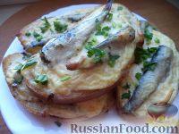 Фото к рецепту: Горячие бутерброды со шпротами и сыром