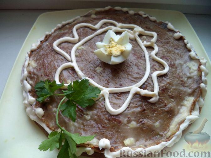 печёночный торт рецепты с фото 600гр печени куринной