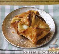 Фото к рецепту: Слоеные конвертики с яблоками