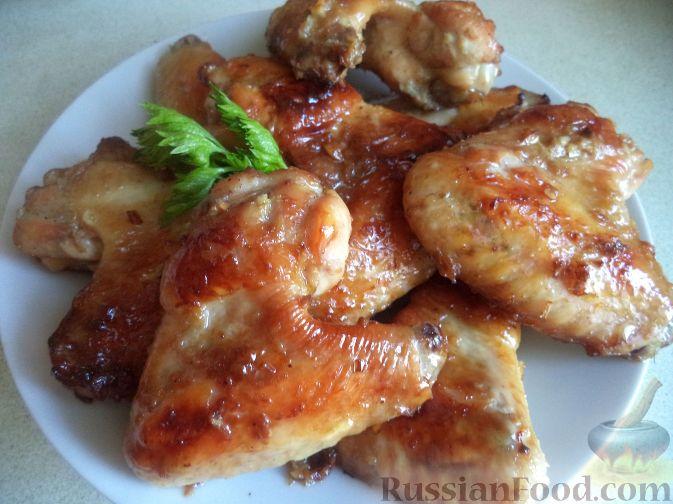 Запеченные крылышки в духовке с медом