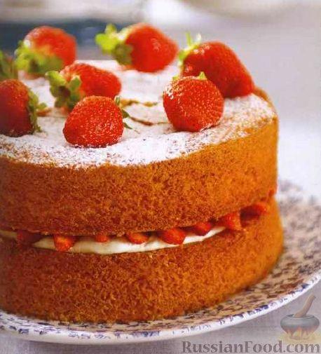 пирог или торт с клубникой рецепт